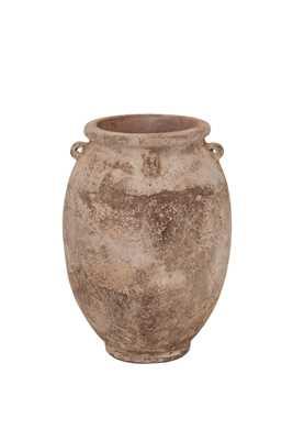 Vaso Vietnamita Redondo em Terracota 25x35 cm