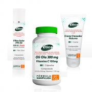 Kit Oli Ola 300mg  60 Doses / Creme Clareador / Filtro Solar FPS 50 com vitaminas