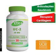 UC II 40 mg, Colágeno Tipo 2 Para Articulações