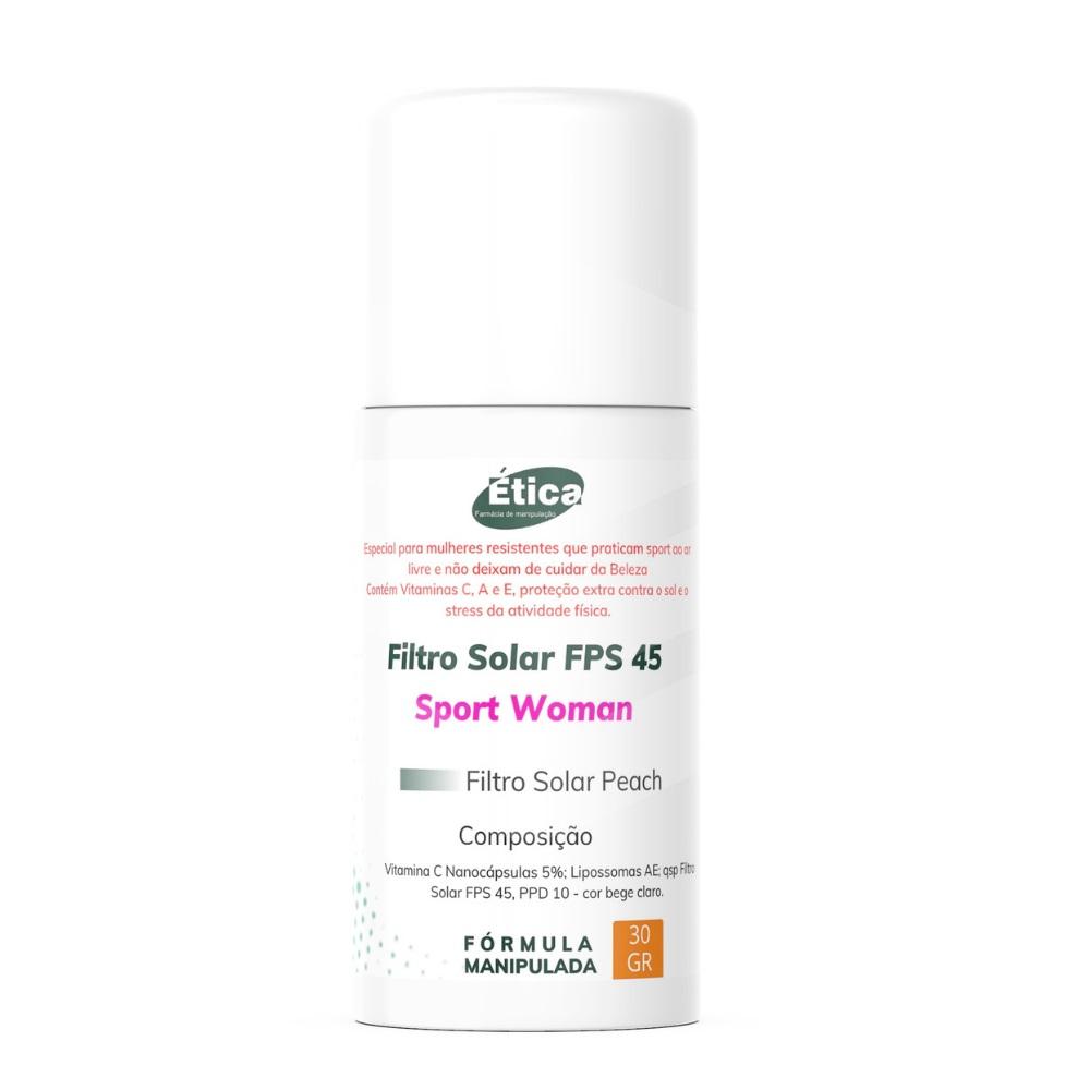 Filtro solar FPS 45 Sport Woman - Peach