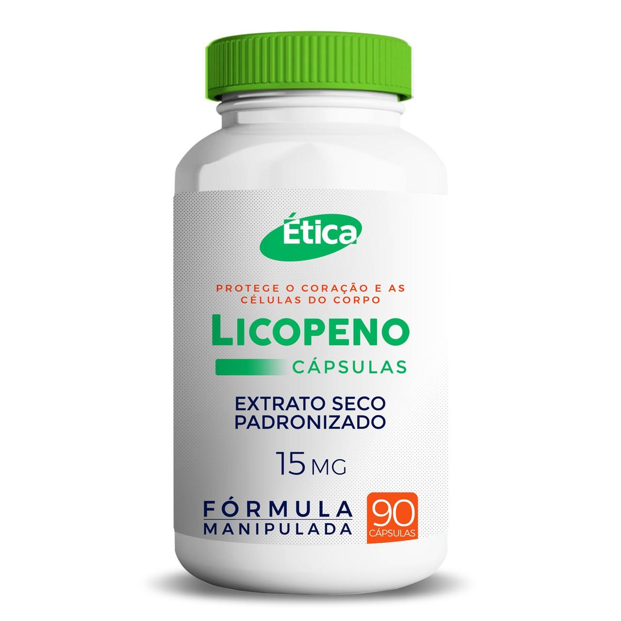 LICOPENO 15 MG - 90 Cápsulas, Antioxidante Natural do Tomate