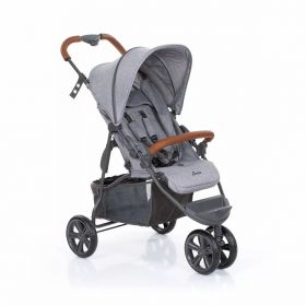 CARRINHO BEBE MOVING LIGHT WOVEN GREY COM COURO - ABC DESIGN