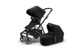 CARRINHO SLEEK  COM MOISÉS/ BASSINET- BLACK ON BLACK - THULE