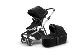 CARRINHO SLEEK  COM MOISÉS/ BASSINET- MIDNIGHT BLACK - THULE