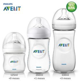 KIT MAMADEIRA PÉTALA 125, 260 E 330ML- TRANSP- PHILIPS AVENT