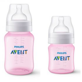 KIT MAMADEIRAS ANTI-COLIC 125ML E 260ML ROSA -PHILIPS AVENT