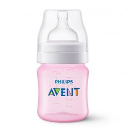 MAMADEIRA ANTI-COLIC CLÁSSICA  125ML - ROSA - PHILIPS AVENT