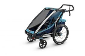 MULTIFUNCIONAL BIKE TRAILER CHARIOT CROSS 1 BLUE POS -THULE