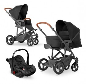 TRAVEL SYSTEM TRIO MERANO C/SHOP BAG-WOVEN BLACK -ABC DESIGN
