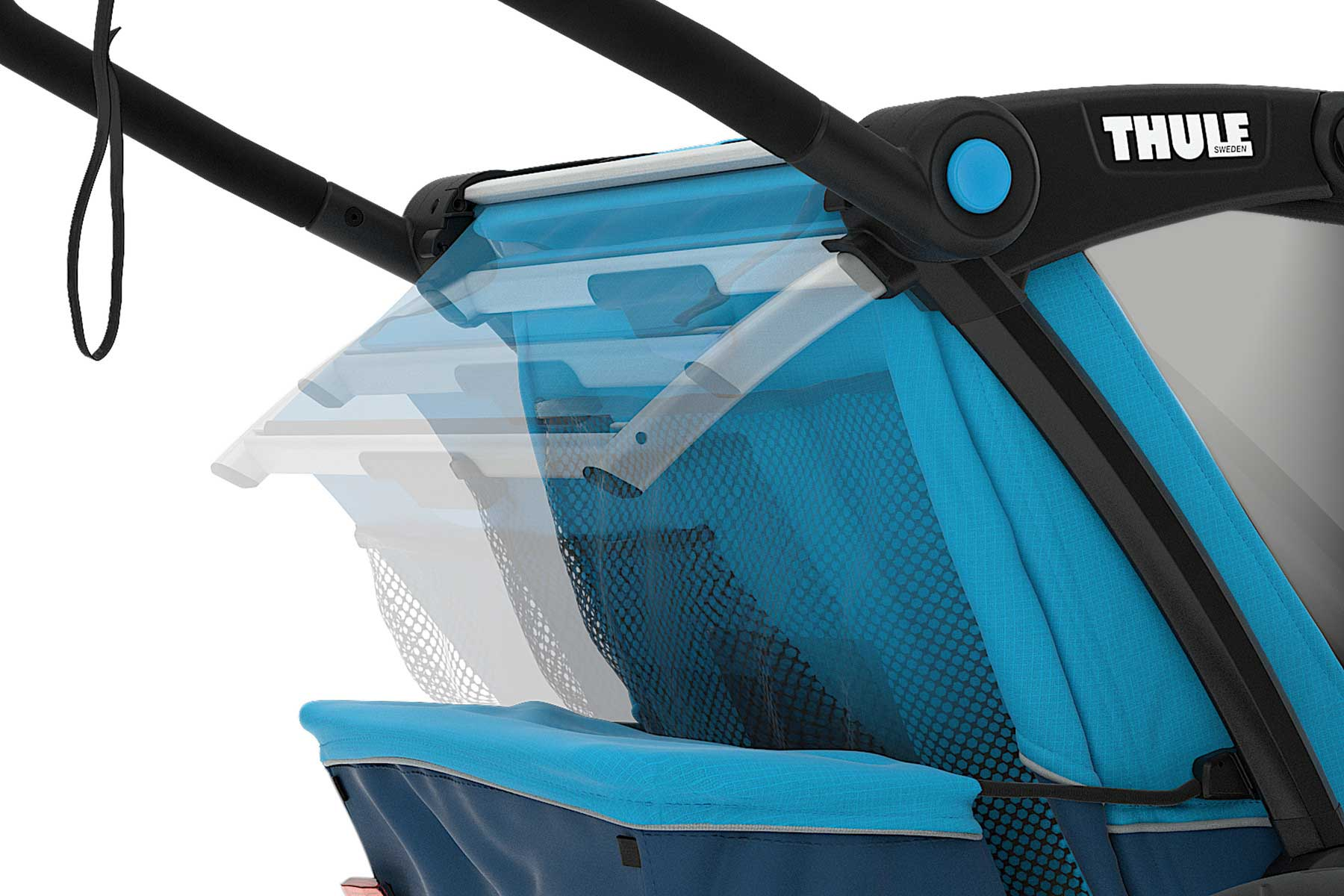 MULTIFUNCIONAL BIKE TRAILER CHARIOT CROSS 1 BLUE POS -THULE