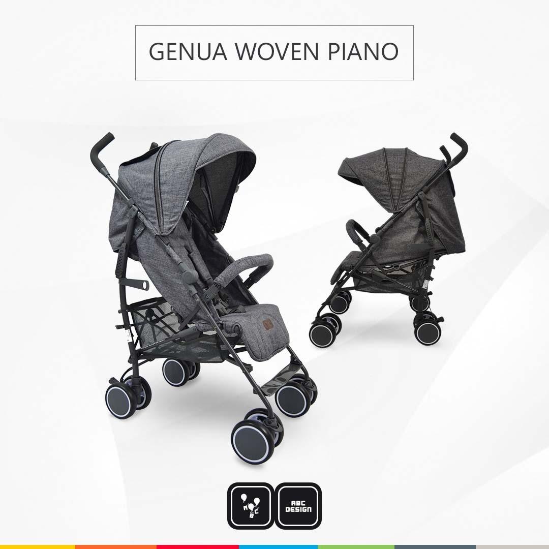 CARRINHO PARA BEBE GENUA WOVEN PIANO - ABC DESIGN