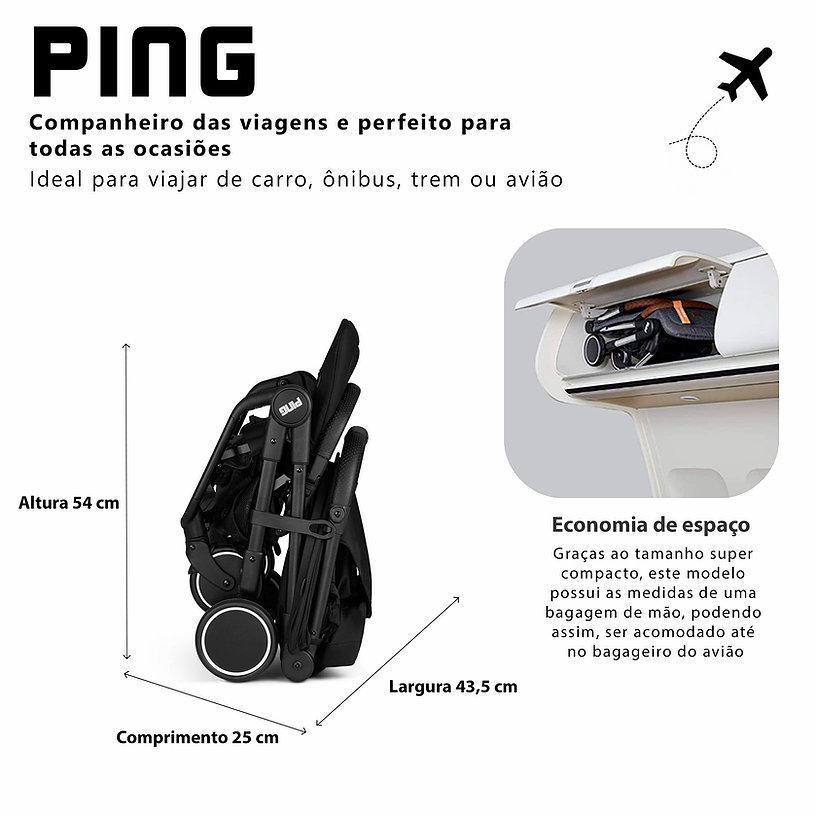 CARRINHO PARA BEBE PING BLACK - ABC DESIGN