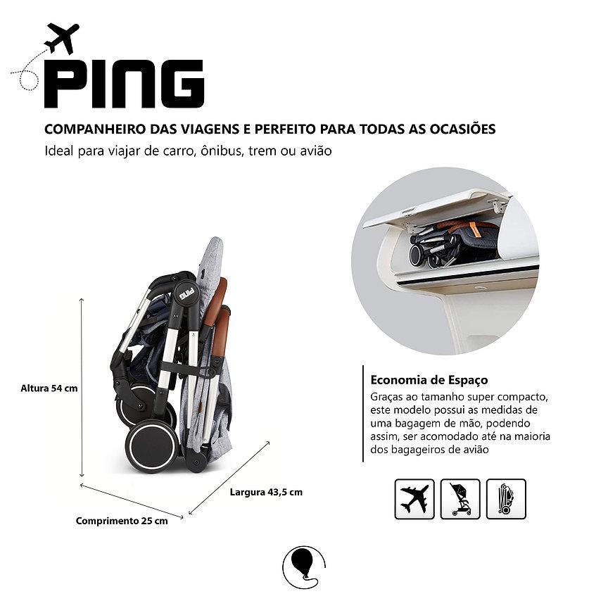 CARRINHO PARA BEBE PING GRAPHITE GREY - ABC DESIGN