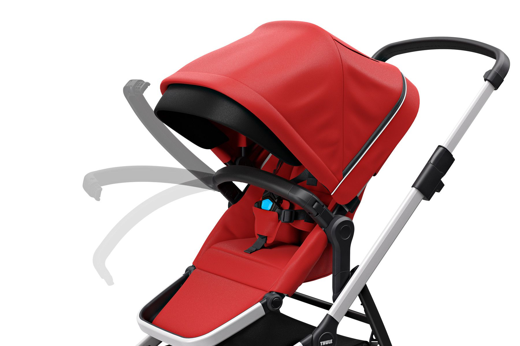 CARRINHO SLEEK  COM MOISÉS/ BASSINET - ENERGY RED - THULE