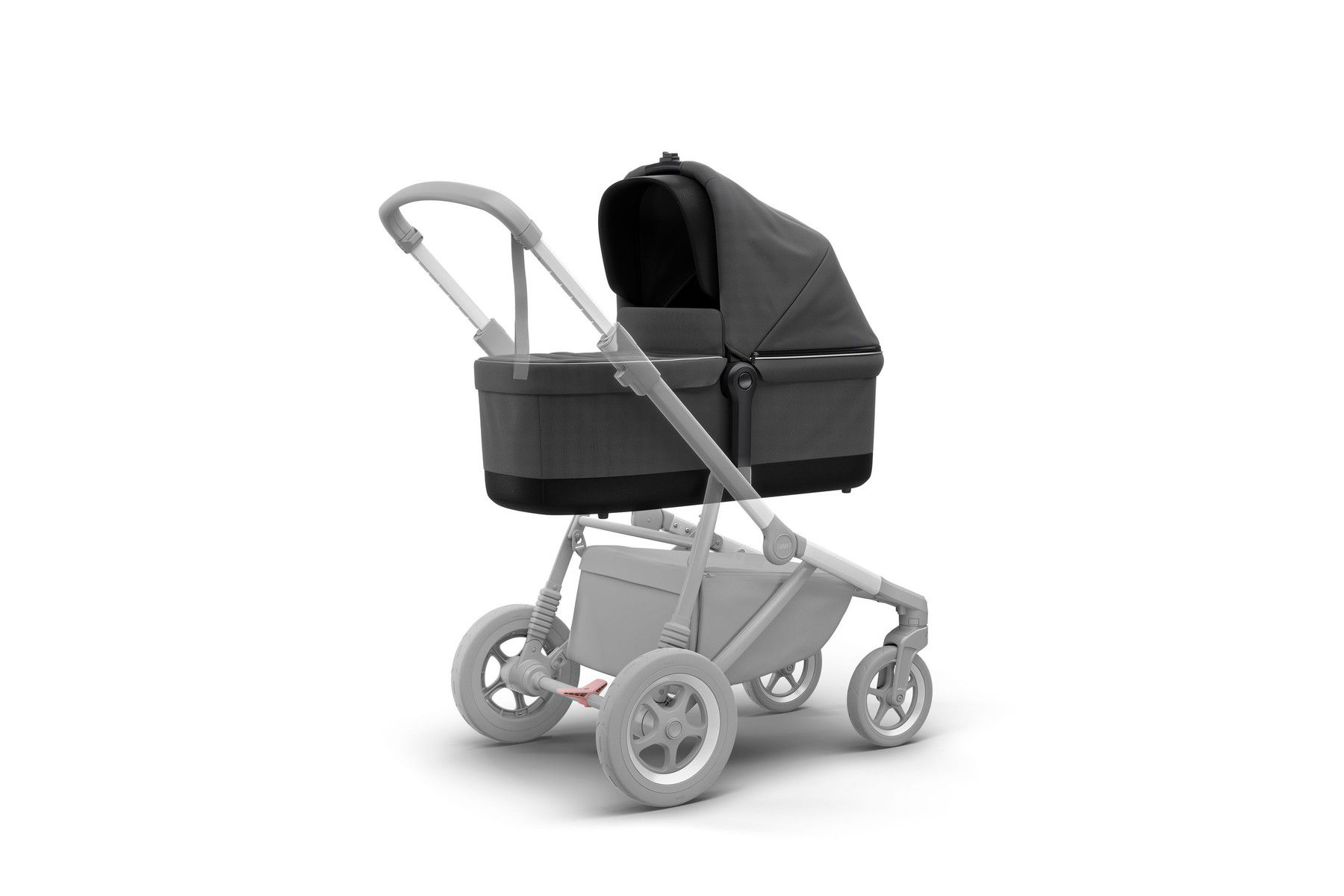 CARRINHO SLEEK  COM MOISÉS/ BASSINET - SHADOW GREY - THULE