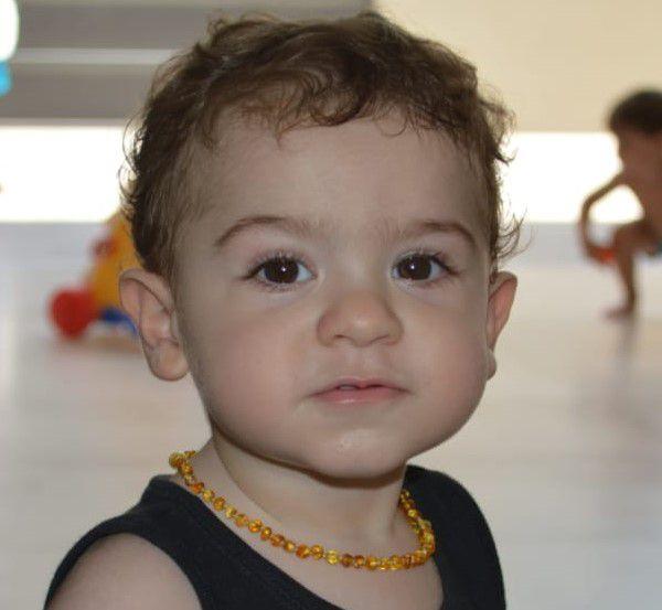 COLAR DE AMBAR BARROQUE HONEY 32cm (BEBÊ) - AMBAR BABY CARE