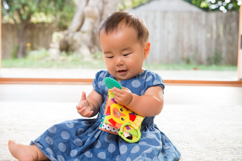 KIT LIVRO FLORESTA + MÓBILE MORDEDOR HIPOPOTAMO - INFANTINO