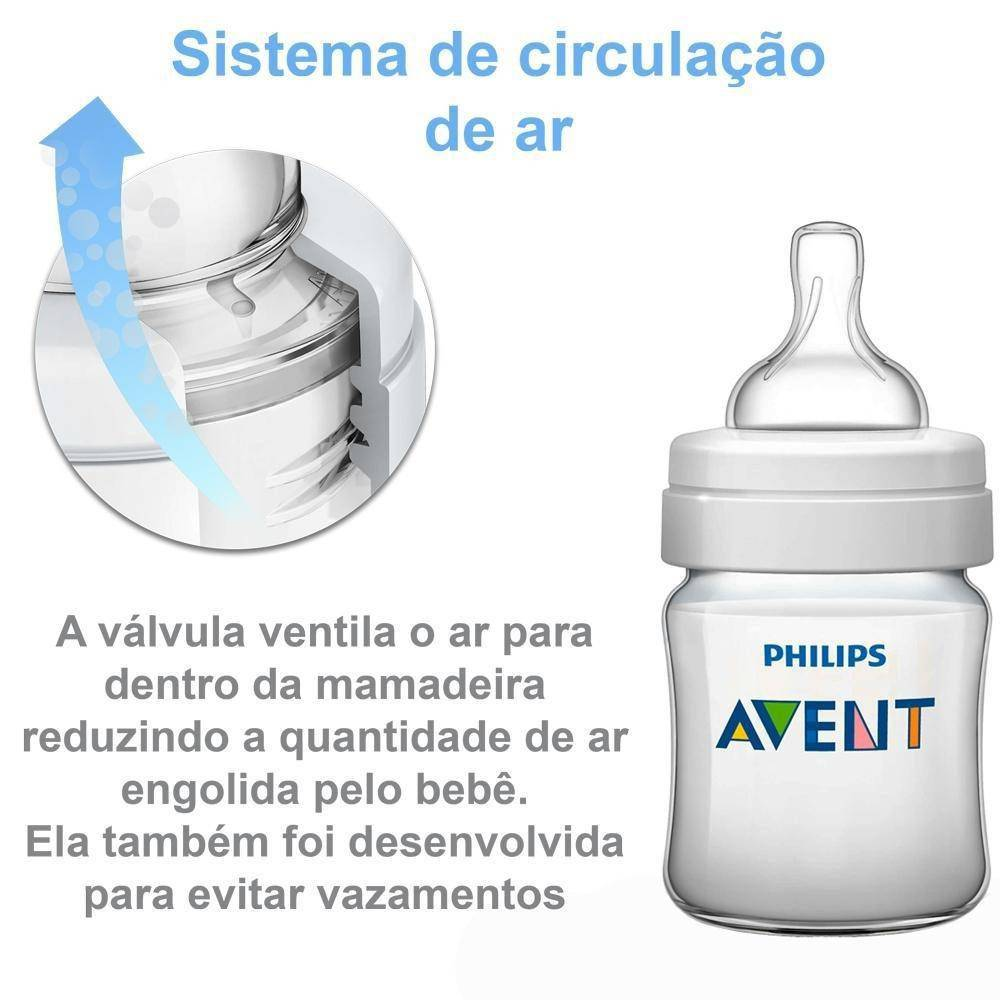 KIT MAMADEIRAS ANTI-COLIC 125ML E 260ML AZUL-PHILIPS AVENT