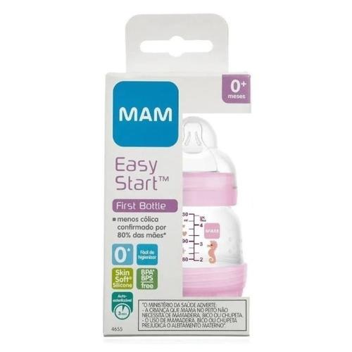 MAMADEIRA EASY START 130ML ROSA - MAM