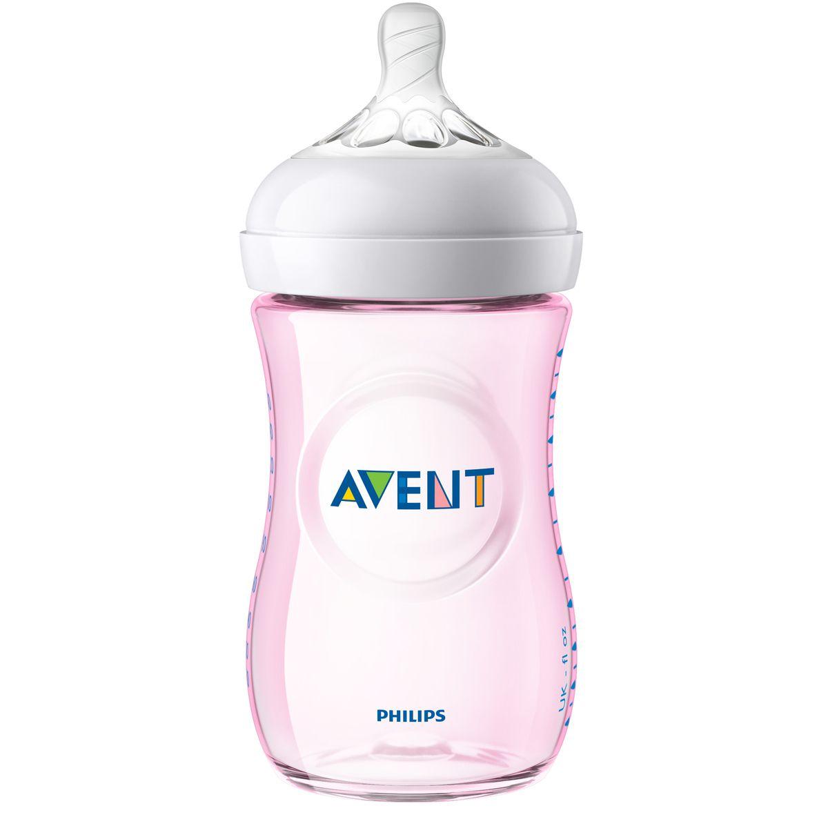 MAMADEIRA PÉTALA 260ML (1M+) BPA FREE - ROSA - PHILIPS AVENT