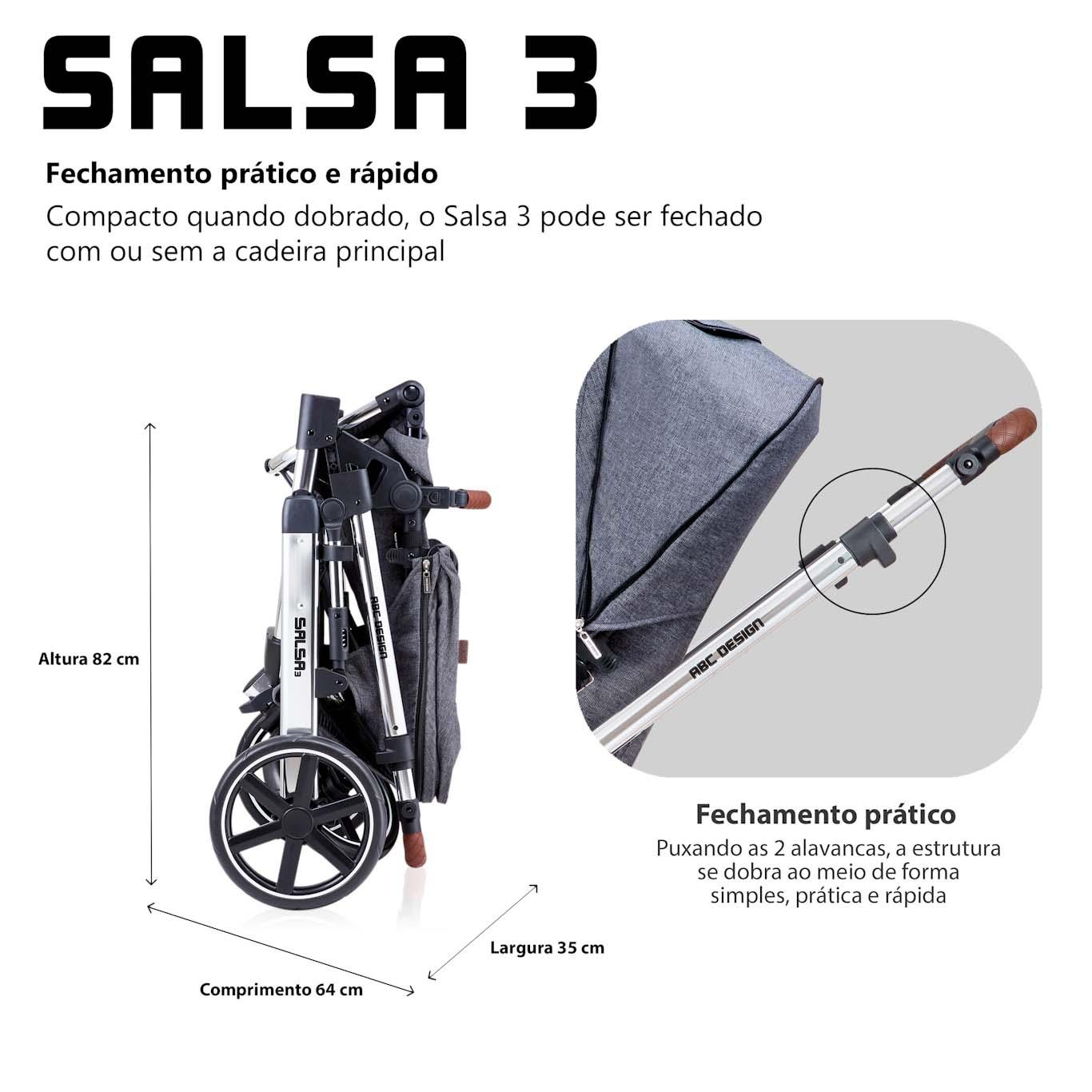 TRAVEL SYSTEM SALSA 3 - ASPHALT DIAMOND - ABC DESIGN
