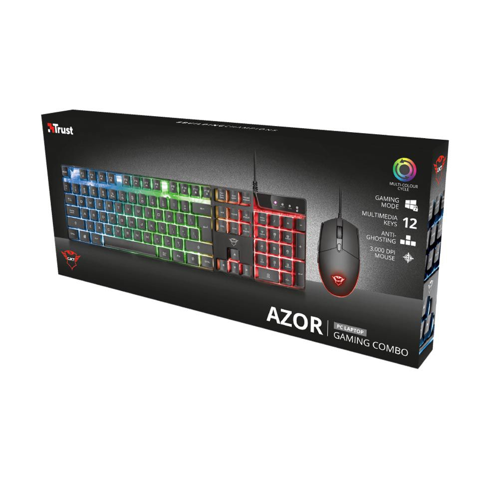 Combo Teclado + Mouse Gamer Trust GXT 838 Azor