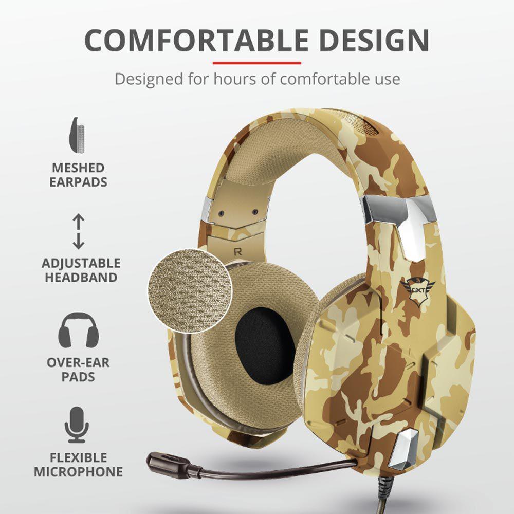Headset Gamer Trust Camuflado Desert