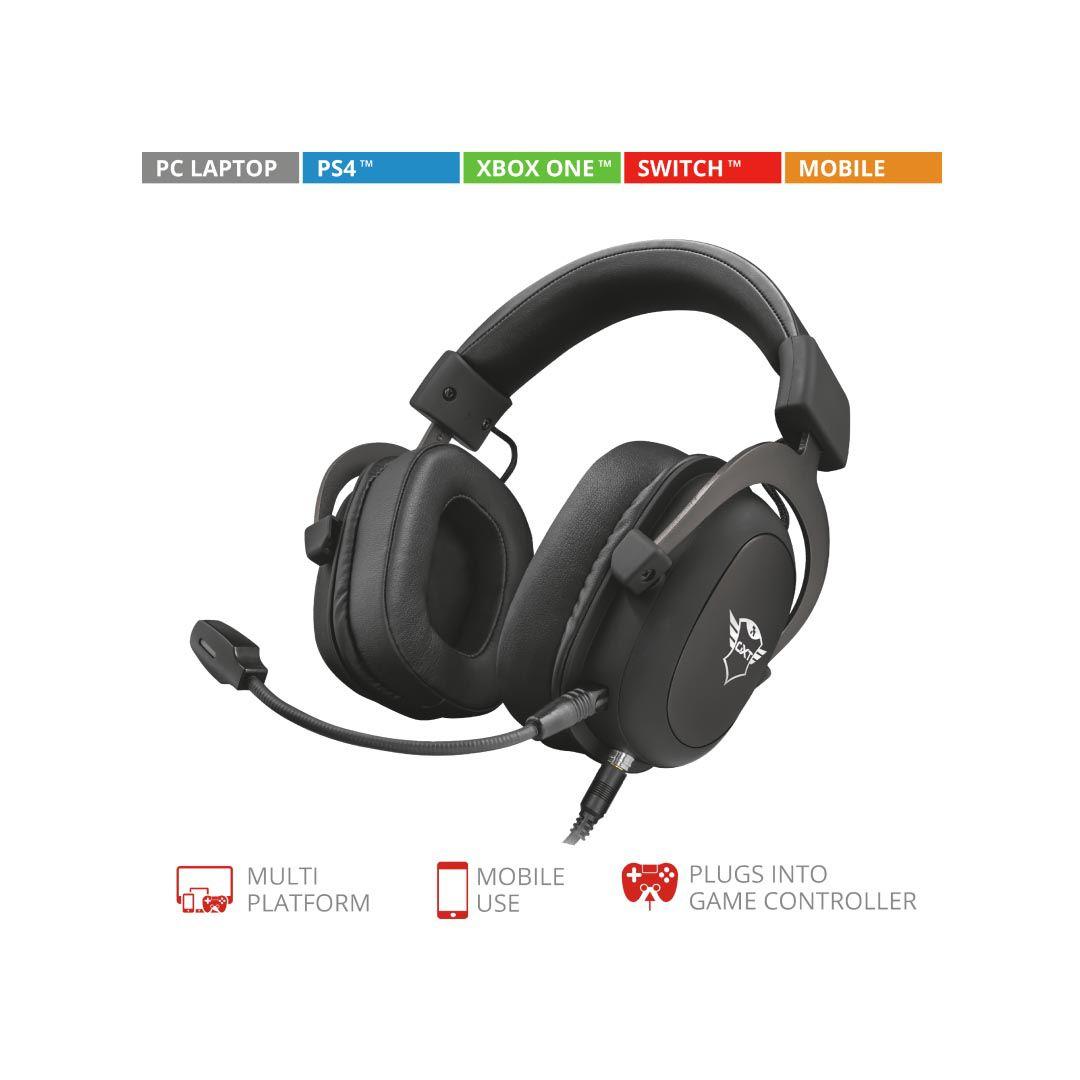 Headset Gaming Multiplataforma Trust Premium