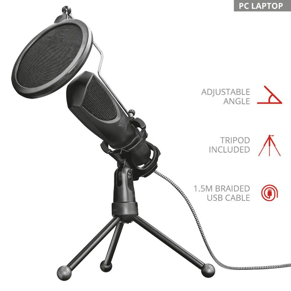 Microfone Condensador Trust Mantis GXT 232 Streaming