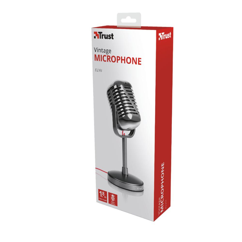 Microfone Vintage Para Pc Trust Elvii - P2