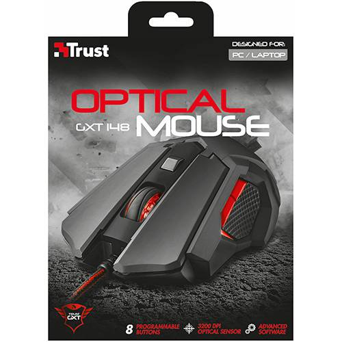 Mouse Gamer Profissional Trust Óptico GXT 148