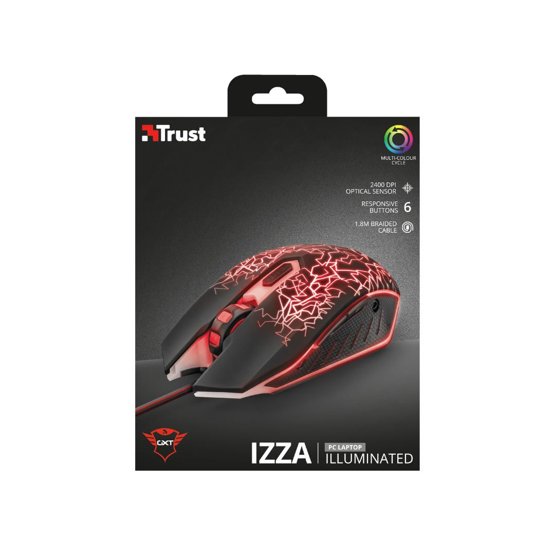 Mouse Gaming Iluminado Trust Izza
