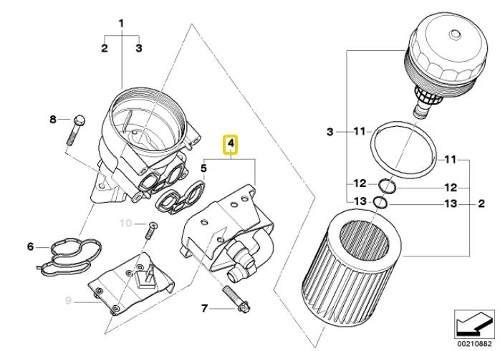 Trocador de calor do motor BMW 320 318 de 2006 a 2011; 120 e 118 de 2005 a 2010; Z4 20i motor N46N