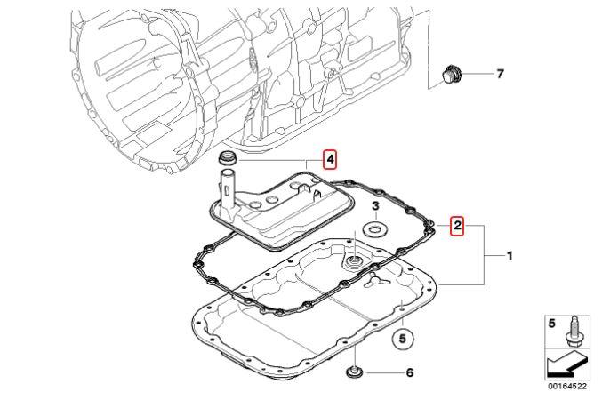 Kit troca de óleo do câmbio BMW 320 318 325 330 2006 a 2012; 118 120 130 2005 a 2011; X1 18i 28i 2008 a 2015 X1 20i 2008 a 2013; X3 2.5 3.0 2006 a 2010;