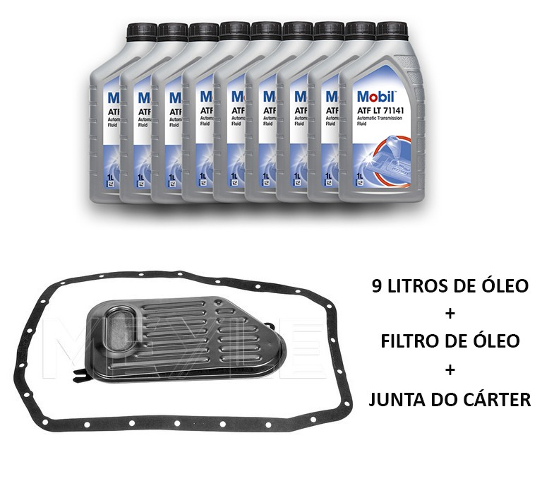 Kit troca de óleo do câmbio BMW 328 330 323 325 320 1998 a 2005 E46; 530 1999 a 2002; Z4 2.2, 2.5 e 3.0 2002 a 2008; Câmbio 5HP19
