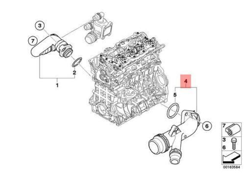 Mangueira lateral cabeçote BMW 320 318 2006 a 2012; 120 118 2005 a 2011; X1 18i 2008 a 2015; Xi 20i 2008 a 2013; Z4 2.0 2006 a 2008; Motor N46