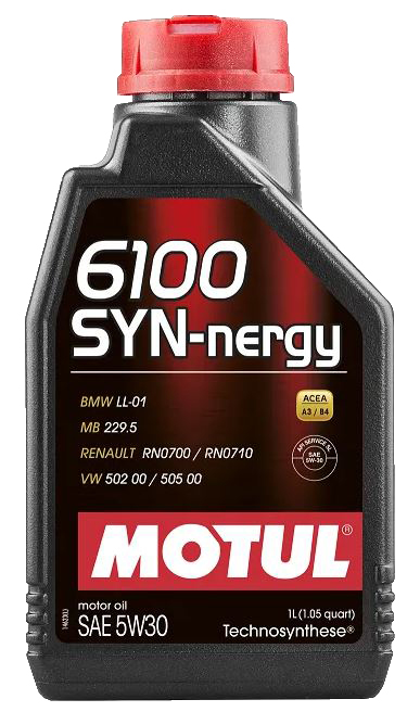Óleo de motor 5W30 Motul 6100 Synergy