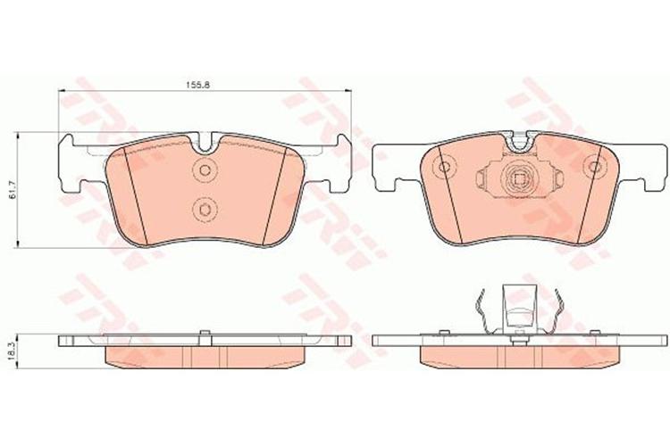 Pastilha de freio dianteira BMW 320 316 2013 a 2019 Original