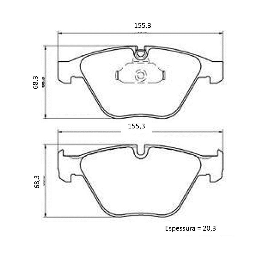 Pastilha de freio Dianteira BMW 320 318 2006 a 2012; X1 18i 20i 28i 2008 a 2015