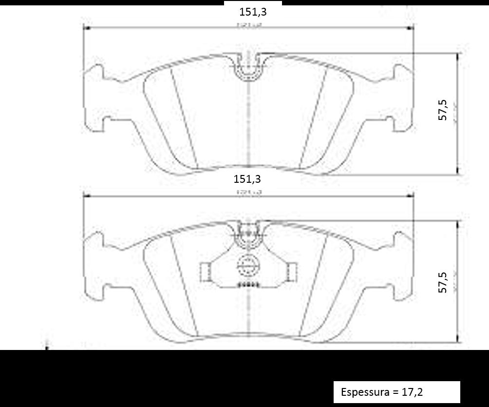 Pastilha de freio dianteira BMW 325 328 323 318 320 1991 a 2005