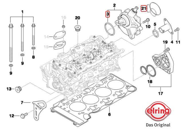 Reparo bomba de vácuo BMW 320 318 2006 a 2012; 120 118 2005 a 2011; X1 18i 2008 a 2015; X1 20i 2008 a 2013 Original