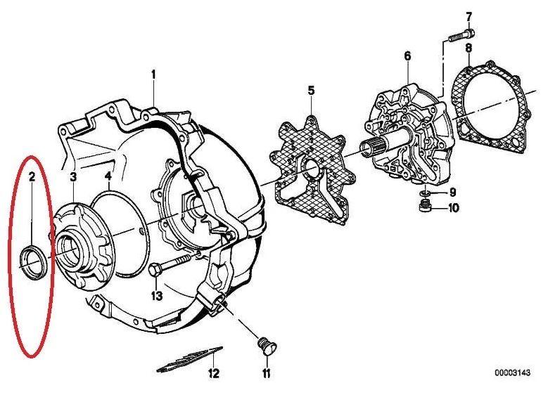 Retentor conversor de torque BMW 320 318 325 330 2006 a 2012; 118 120 130 2005 a 2011; X1 18i 28i 2008 a 2015 X1 20i 2008 a 2013; X3 2.5 3.0 2006 a 2010;