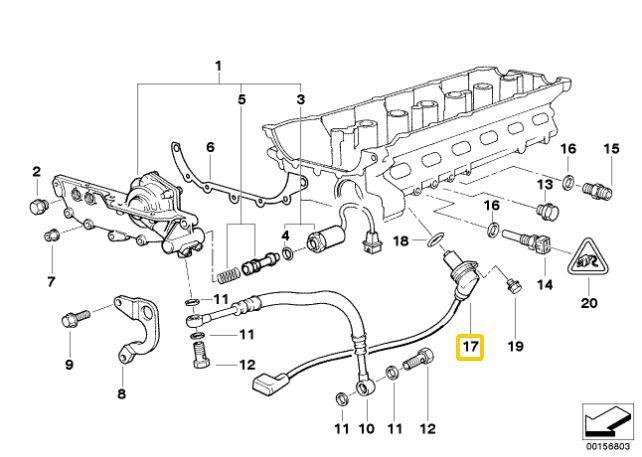 Sensor de fase do comando BMW 328 323 528 1996 a 1999 E36 E39 Original