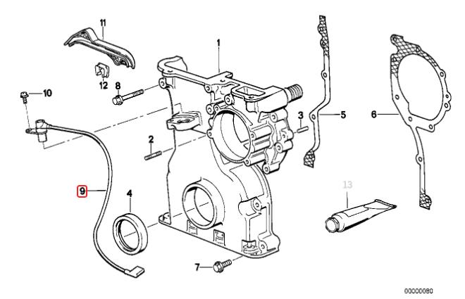 Sensor de rotação BMW 325 320 525 1990 a 1995 Italiano