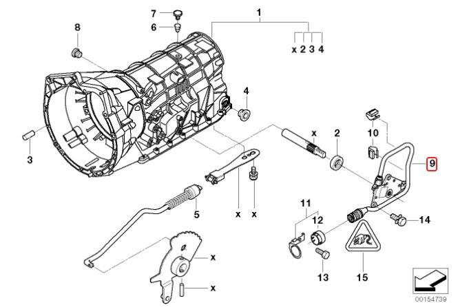 Seletora câmbio BMW 328 330 323 325 320 1998 a 2005 E46; 528 530 1999 a 2003;  Z4 2002 a 2006