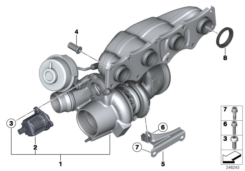 Solenóide turbina BMW 320 328 2012/19; 120 125 2011/18; X1 20i 2014/16; 528 2010/2019; X3 20i 28i 2010/17; X4 28i 2013/16; Z4 20i e 28i 2014/16; N20