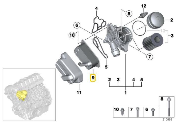 Trocador calor motor BMW 325 330 130 2006 a 2011 320 328 2012 a 2017 X3 2006 2018 X5 3.0 2006 a 2010