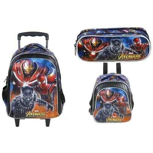 Kit Mochila Infantil+lancheira+estojo Avengers Armored - Xeryus