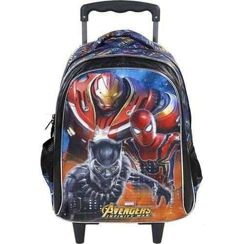 Mochila Avengers Armored Com Rodas Tam G 16 -7490 Xeryus