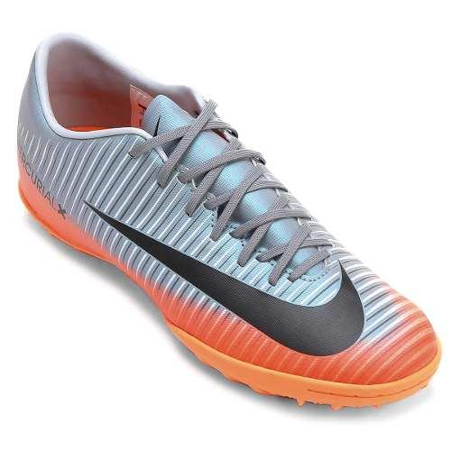 Chuteira Nike Mercurial Victory Vi Cr7 Tf Society Prata
